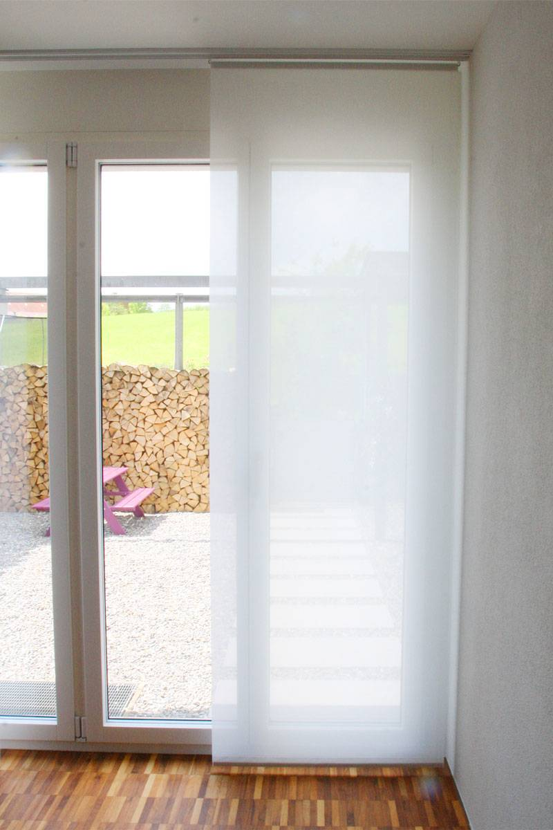 transparenz fl chenvorhang halbtransparent 60cm 80cm breit. Black Bedroom Furniture Sets. Home Design Ideas
