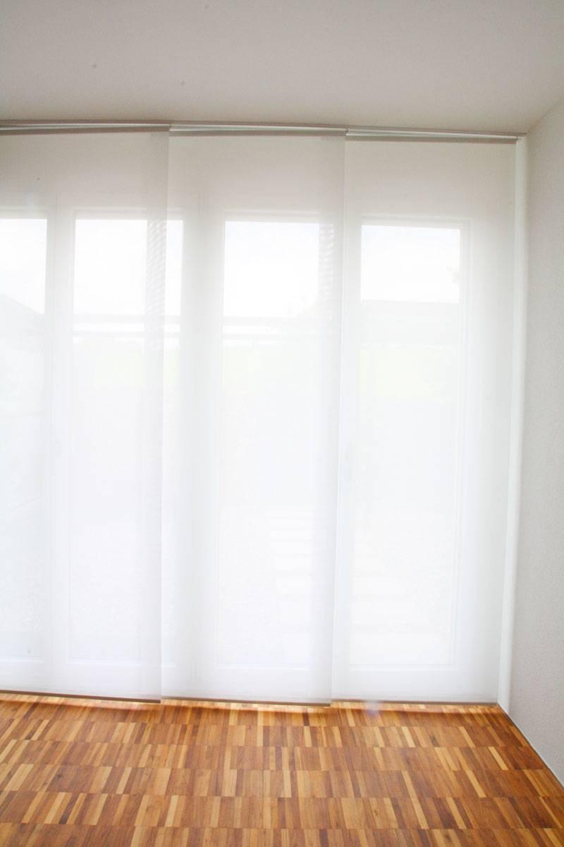 Fenster Vorhang Halb