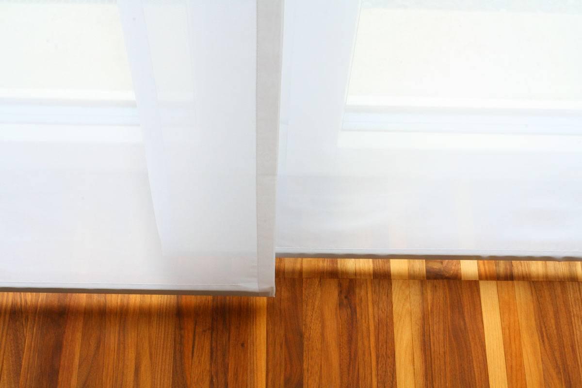 Turbo Flächenvorhang transparent [weiss, 60cm/80cm/120cm breit  GR15