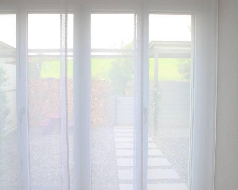 Schiebevorhang 60cm/80cm weiss transparenz | weisservorhang.ch