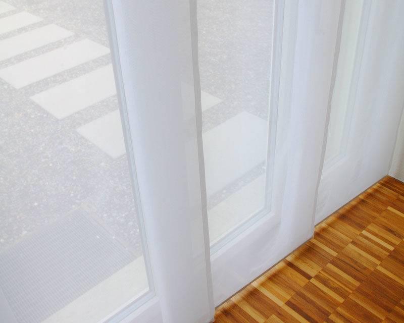 transparenter stoff fl chenvorhang 60cm 80cm weiss transparenz. Black Bedroom Furniture Sets. Home Design Ideas