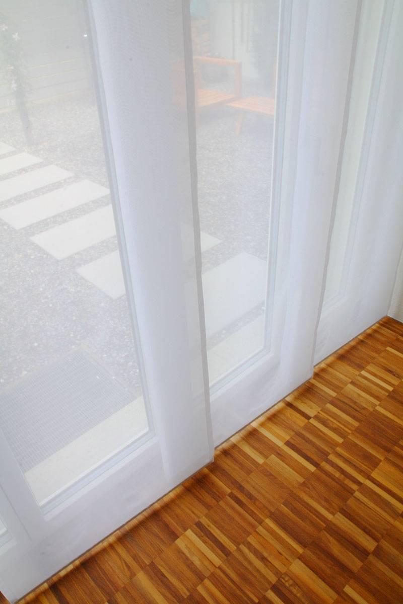fl chenvorhang transparent weiss 60cm 80cm 120cm breit. Black Bedroom Furniture Sets. Home Design Ideas