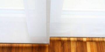 Flächenvorhänge weiss Wohnzimmer
