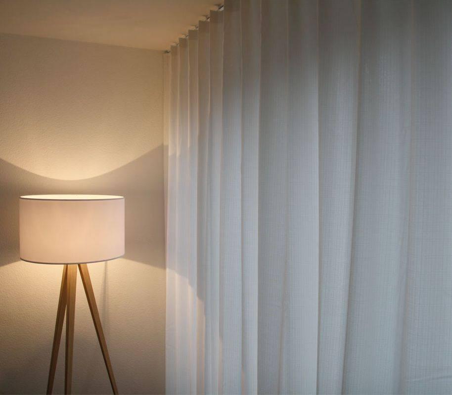 Raumteiler Vorhang Blickdicht In Schlafzimmer
