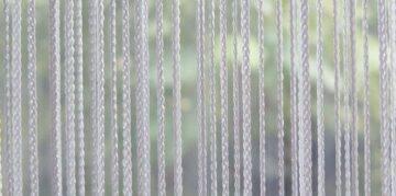 Türvorhang weisser Fadenvorhang