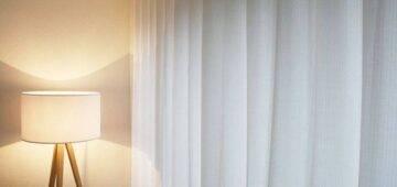 Edler Nachtvorhang Alpin-Chic weiss im Schlafzimmer